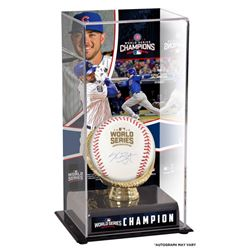 Kris Bryant Signed 2016 World Series Logo Baseball with World Series Champion Display Case (Fanatics