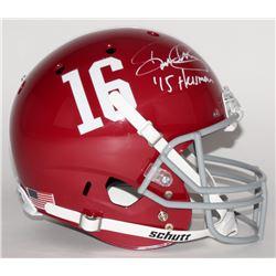 """Derrick Henry Signed Alabama Crimson Tide Full Size Helmet Inscribed """"'15 Heisman"""" (Henry Hologram)"""