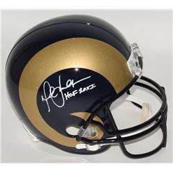 "Marshall Faulk Signed Rams Full-Size Helmet Inscribed ""HOF 20XI"" (JSA COA)"