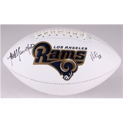 "Jack Youngblood Signed Rams Logo Football Inscribed ""HF '01"" (JSA COA)"