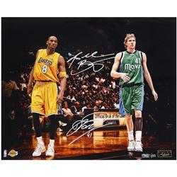 "Kobe Bryant  Dirk Nowitzki Signed LE ""Legends"" 16x20 Photo (Panini COA)"
