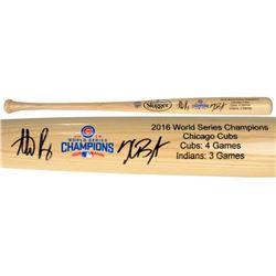 Kris Bryant  Anthony Rizzo Signed Cubs 2016 World Series Champions Louisville Slugger Baseball Bat (
