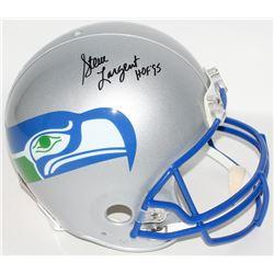 """Steve Largent Signed Seahawks Throwback Full-Size Authentic Helmet Inscribed """"HOF 95"""" (JSA COA)"""