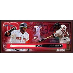 "David Ortiz Signed Red Sox 49.5"" x 23.5"" x 3.25"" Custom Framed Marucci Game Model Baseball Bat Shado"