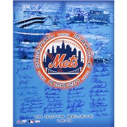 Amazin' Mets 16x20 Photo Signed by (50) with Nolan Ryan, Tom Seaver, Tom Glavine, David Cone, Darryl
