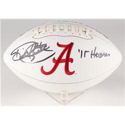 """Derrick Henry Signed Alabama Crimson Tide Logo Football Inscribed """"'15 Heisman"""" (Henry Hologram)"""