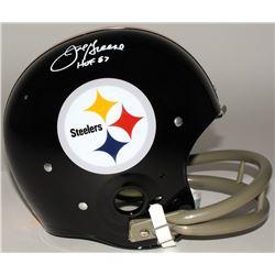 "Joe Greene Signed Steelers Full-Size TK Suspension Helmet Inscribed ""HOF 87"" (JSA COA)"
