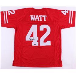 T. J. Watt Signed Wisconsin Badgers Jersey (Watt Hologram)