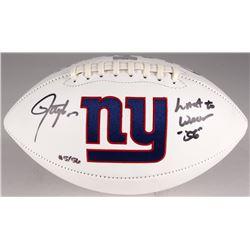 "Lawrence Taylor Signed Giants Logo Football Inscribed ""Last To Wear"" (Radtke COA)"