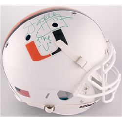 """Jim Kelly Signed University of Miami Full-Size Authentic On-Field Helmet Inscribed """"The """"U"""""""" (JSA CO"""