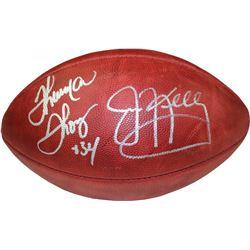 Thurman Thomas  Jim Kelly Signed Full-Size NFL Football (Steiner COA)