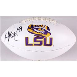 Arden Key Signed LSU Tigers Logo Football (JSA COA)