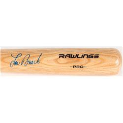 Lou Brock Signed Rawlings Pro Baseball Bat (MLB Hologram)