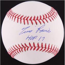 """Tim Raines Signed OML Baseball Inscribed """"HOF 17"""" (MLB Hologram)"""