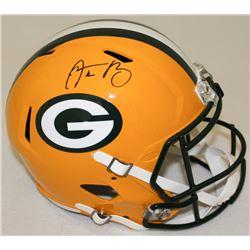 Aaron Rodgers Signed Packers Full-Size Speed Helmet (Radtke COA  Fanatics Hologram)