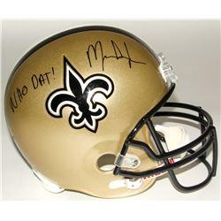 """Mark Ingram Signed Saints Full-Size Helmet Inscribed """"Who Dat!"""" (Ingram Hologram)"""