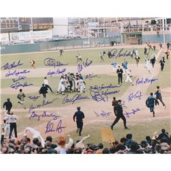 1969 Mets Team-Signed 16x20 Photo with (20) Signatures Including Nolan Ryan, Bud Harrelson, Al Weis,