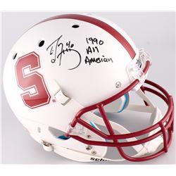 "Ed McCaffrey Signed Stanford Cardinal Full-Size Helmet Inscribed ""1990 All American"" (JSA COA)"
