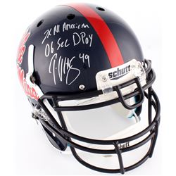 """Patrick Willis Signed Ole Miss Rebels Full-Size Authentic On-Field Helmet Inscribed """"2x All American"""