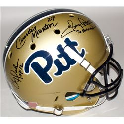 Chris Doleman, Tony Dorsett  Curtis Martin Signed Pitt Panthers Full-Size Helmet with (2) Inscriptio