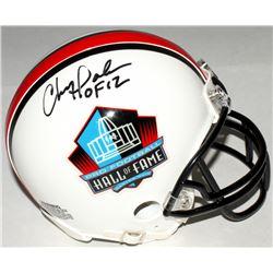 "Chris Doleman Signed Hall of Fame Commemorative Mini-Helmet Inscribed ""HOF 12"" (Radtke COA)"