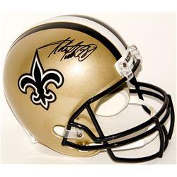 Adrian Peterson Signed Saints Full-Size Helmet (Fanatics Hologram)