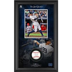 Aaron Judge Signed 15.5x25.25x2 Custom Framed Baseball Shadowbox Display (MLB Hologram  Fanatics Hol