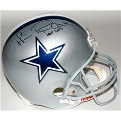 "Michael Irvin Signed Cowboys Full-Size Helmet Inscribed ""Playmaker""  ""HOF 2007"" (Irvin Hologram)"