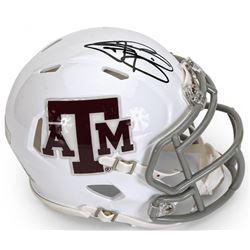 Johnny Manziel Signed Texas AM White Aggies Mini Speed Helmet (Panini COA)