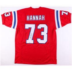 "John Hannah Signed New England Patriots Jersey Inscribed ""HOF 91"" (SGC COA)"