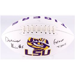 """Derrius Guice Signed LSU Tigers Logo Football Inscribed """"Geaux Tigers"""" (JSA COA)"""