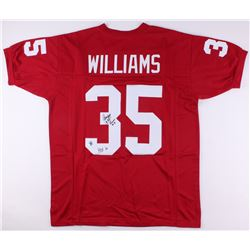 Aeneas Williams Signed Cardinals Jersey Inscribed  HOF 14  (Jersey Source COA)
