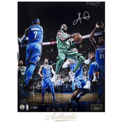 "Kyrie Irving Signed LE Celtics ""Through The Lane"" 16x20 Photo (Panini COA)"