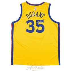 Kevin Durant Signed Golden State Warriors Nike City Edition Jersey (Panini COA)