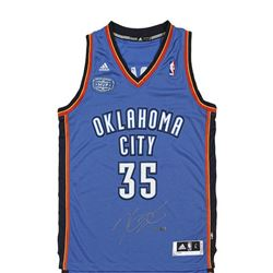 Kevin Durant Signed Oklahoma City Thunder Jersey With 2013-14 MVP Patch (Panini COA)