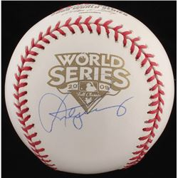 Alex Rodriguez Signed 2009 World Series Baseball (Steiner COA)