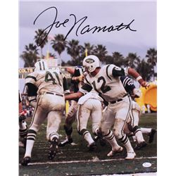 Joe Namath Signed Jets 16x20 Photo (JSA COA  Joe Namath Hologram)