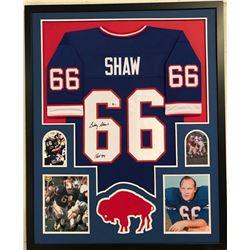Billy Shaw Signed Bills 34x42 Custom Framed Jersey (Beckett COA)