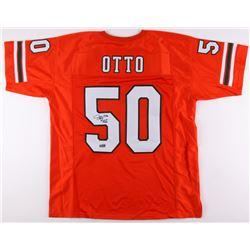 """Jim Otto Signed Miami Hurricanes Jersey Inscribed """"H.O.F. 1980"""" (Radtke COA)"""