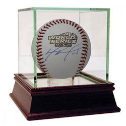 David Ortiz Signed 2004 World Series Logo Baseball with High Quality Display Case (Fanatics Hologram