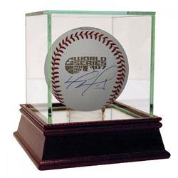 David Ortiz Signed 2007 World Series Baseball with High Quality Display Case (Fanatics Hologram)