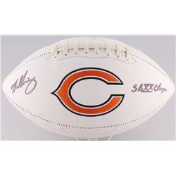 "Mike Singletary Signed Bears Logo Football Inscribed ""SB XX Champs"" (Radtke Hologram)"