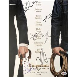 """""""Kingsman: The Golden Circle"""" 11x14 Photo Cast-Signed by (6) with Halle Berry, Channing Tatum, Pedro"""