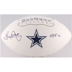 "Tony Dorsett Signed Cowboys Logo Football Inscribed ""HOF-91"" (Radtke Hologram)"