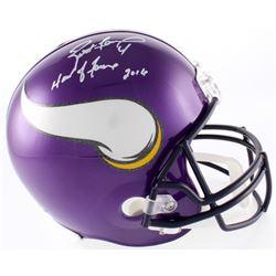 """Brett Favre Signed LE Vikings Full-Size Helmet Inscribed """"Hall of Fame 2016"""" (Favre COA)"""