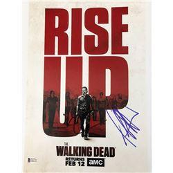 "Jeffrey Dean Morgan  Norman Reedus Signed ""The Walking Dead"" 11x14 Photo (Beckett COA)"