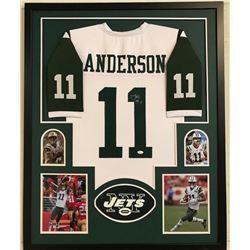 Robby Anderson Signed Jets 34x42 Custom Framed Jersey Display (JSA COA)