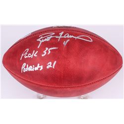 "Brett Favre Signed Super Bowl 31 Logo Football Inscribed ""Packers 35 Patriots 21"" (Radtke COA)"