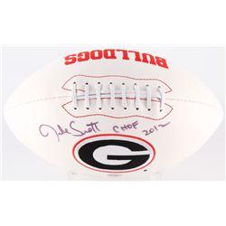 "Jake Scott Signed Georgia Bulldogs Logo Football Inscribed ""CHOF 2012"" (Radtke Hologram)"