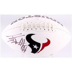 JJ Watt Signed Texans Logo Football (JSA COA)